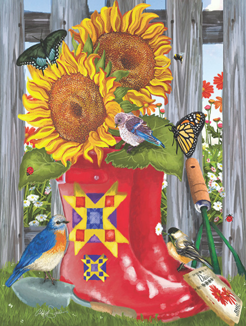 Summer Galoshes - 500pc Jigsaw Puzzle By Sunsout