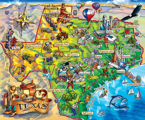 Texas!!! - 1000pc Jigsaw Puzzle By Sunsout
