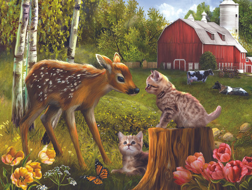 Want to be Friends - 500pc Jigsaw Puzzle By Sunsout