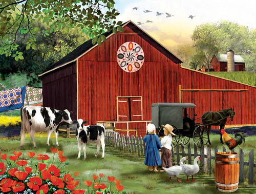 Country Serenity - 300pc Large Format Jigsaw Puzzle By Sunsout