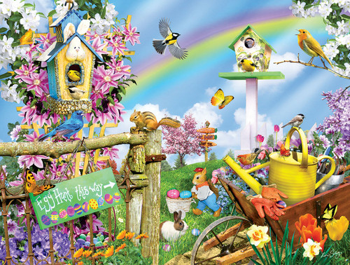 Spring Egg Hunt - 300pc Large Format Jigsaw Puzzle By Sunsout