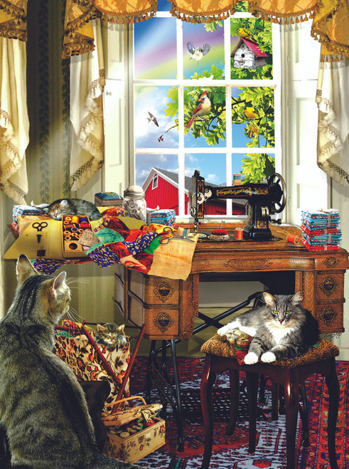 The Sewing Room - 300pc Jigsaw Puzzle By Sunsout