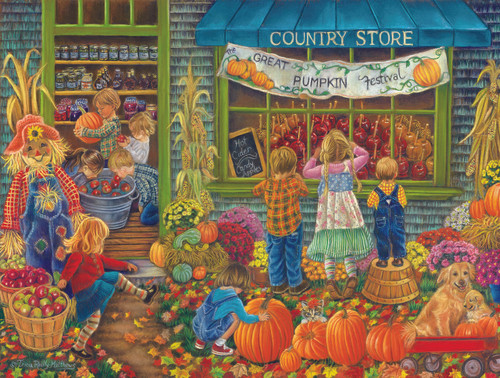 Great Pumpkin Festival - 500pc Jigsaw Puzzle By Sunsout