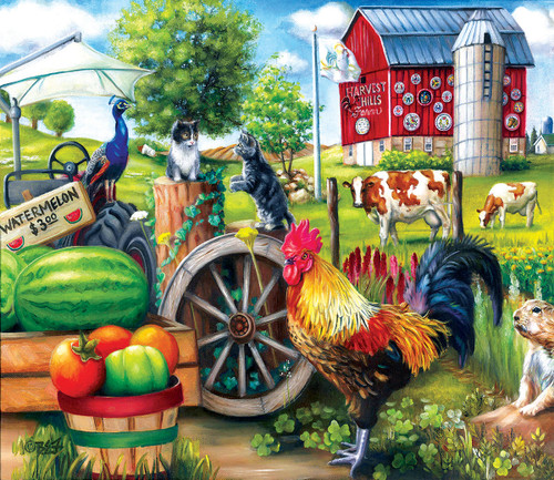 Harvest Hills - 200pc Jigsaw Puzzle By Sunsout