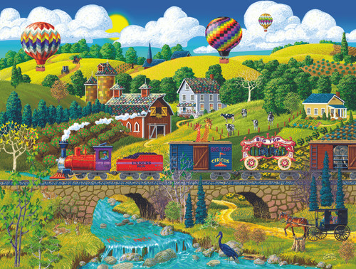 Big Top Circus Train - 500pc Jigsaw Puzzle By Sunsout