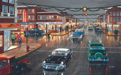 Main Street Tis the Season - 300pc Jigsaw Puzzle By Sunsout (discon-26328)
