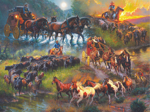 Wagon Trails - 1000pc Jigsaw Puzzle By Sunsout