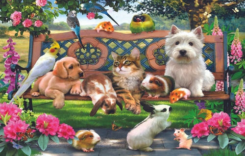 Park Bench Pals - 100pc Jigsaw Puzzle By Sunsout