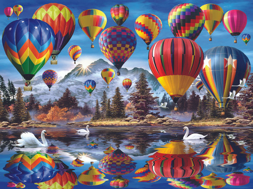 Hot Air Balloons - 1000pc Jigsaw Puzzle By Sunsout