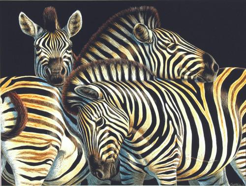 Zebras - 500pc Jigsaw Puzzle By Sunsout