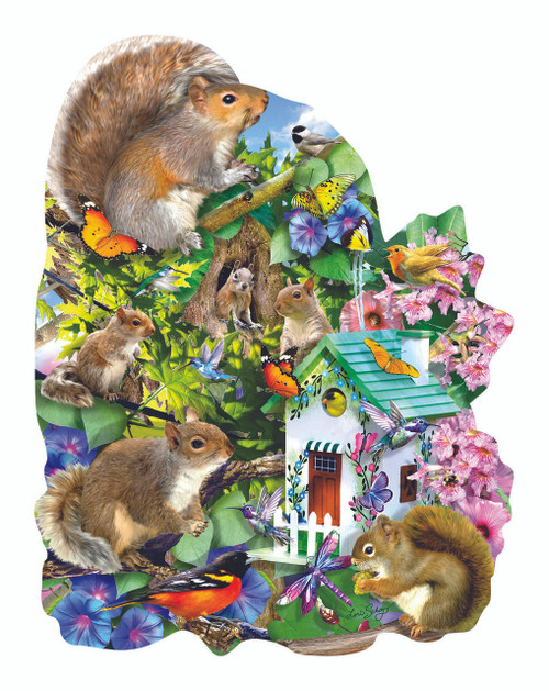 Something Squirrelly - 1000pc Shaped Jigsaw Puzzle By Sunsout