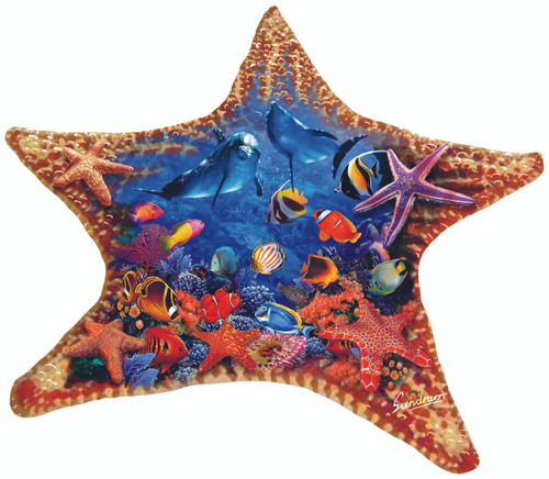 Starfish - 600pc Shaped Jigsaw Puzzle By Sunsout