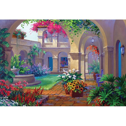 Courtyards: Intriguing Archway - 500pc Jigsaw Puzzle by Holdson