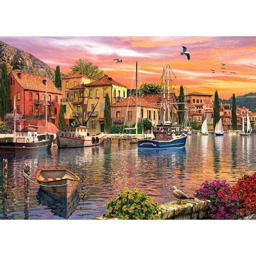 Sunsets: Sunset Harbour - 1000pc Jigsaw Puzzle by Holdson