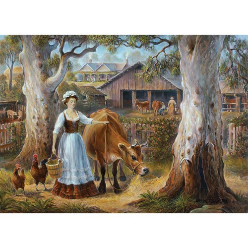 Redgum Ranges: Ready for Milking - 1000pc Jigsaw Puzzle by Holdson