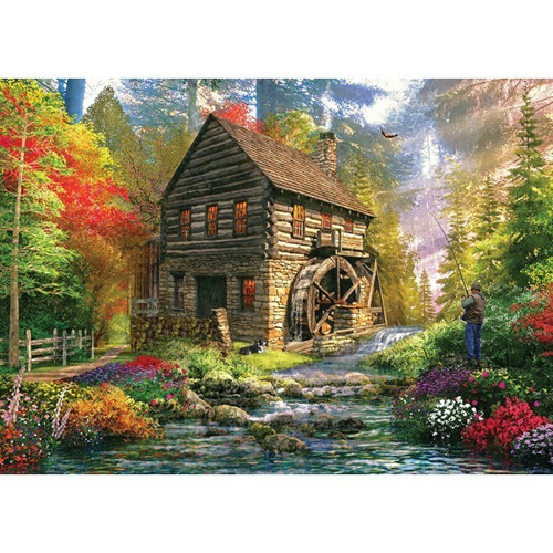 Picture Perfect II: Mill Cottage - 1000pc Jigsaw Puzzle by Holdson