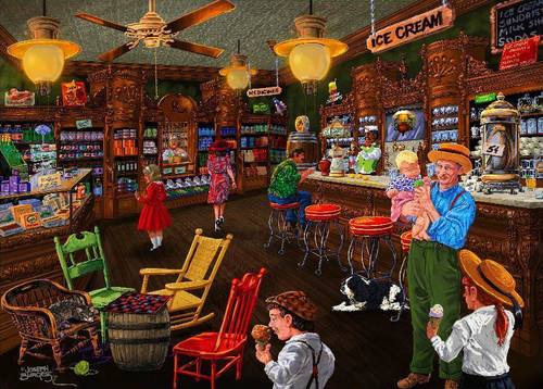 Love to Shop: Ice Cream Parlour - 1000pc Jigsaw Puzzle by Holdson