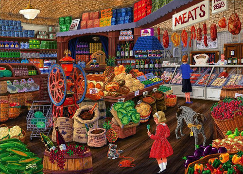 Love to Shop: The Grocery Store - 1000pc Jigsaw Puzzle by Holdson