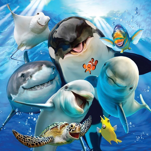 Selfies: Underwater Wonders - 500pc Jigsaw Puzzle by Holdson