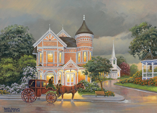 Down the Lane: Rainy Afternoon - 1000pc Jigsaw Puzzle by Holdson