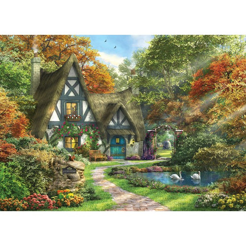 Picture Perfect III: Autumn Cottage - 1000pc Jigsaw Puzzle by Holdson