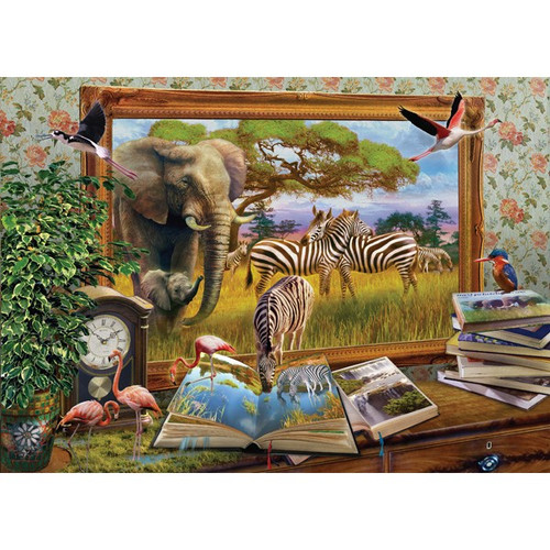 Art to Life: Zebra Waterhole - 1000pc Jigsaw Puzzle by Holdson