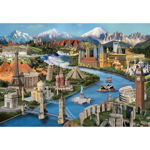 Popular Landmarks - 2000pc Jigsaw Puzzle by Anatolian