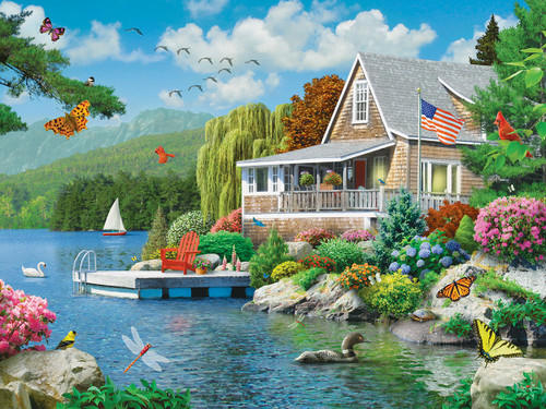 Lakeside Memories - 300pc EzGrip Jigsaw Puzzle by Masterpieces