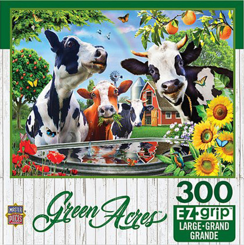 Green Acres: Moo Love - 300pc EzGrip Jigsaw Puzzle by Masterpieces