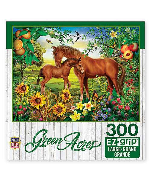Green Acres: Neighs & Nuzzles - 300pc EzGrip Jigsaw Puzzle by Masterpieces