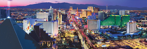 Cityscape: Las Vegas - 1000pc Panoramic Jigsaw Puzzle by Masterpieces