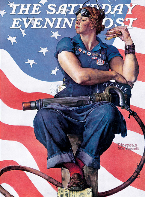 Saturday Evening Post Norman Rockwell: Rosie the Riveter - 1000pc Jigsaw Puzzle by Masterpieces