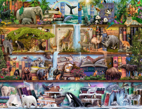Wild Kingdom Shelves - 2000pc Puzzle by Ravensburger