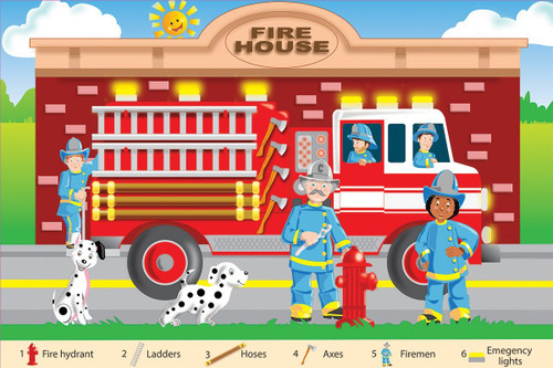 Fire Fighters - 24pc Floor Jigsaw Puzzle By White Mountain