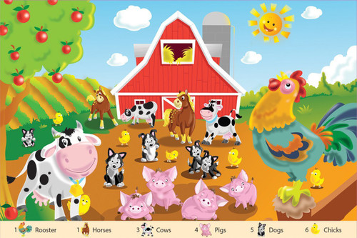 Farm Friends - 24pc Floor Jigsaw Puzzle By White Mountain