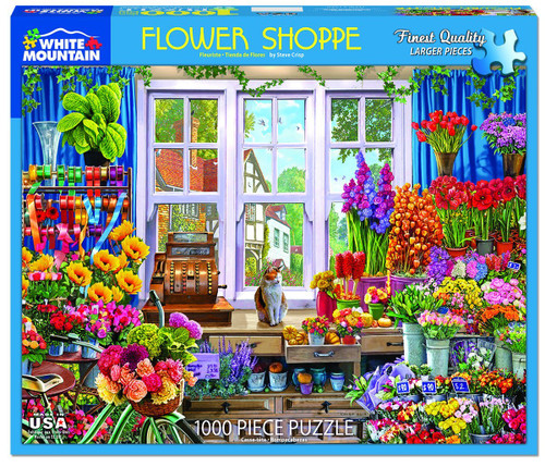 Flower Shoppe 1000pc Jigsaw Puzzle By White Mountain