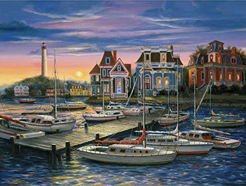 Harbor at Sunset - 500pc Jigsaw Puzzle by Wellspring