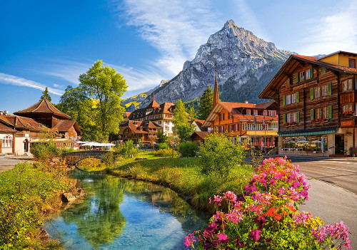 Kandersteg, Switzerland - 500pc Jigsaw Puzzle By Castorland