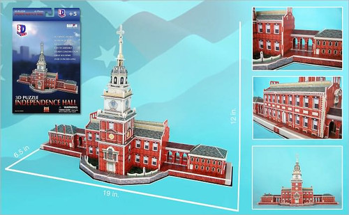 3D Puzzles - Independence Hall