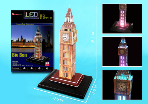 3D Puzzles - LED Light Up Version!: Big Ben