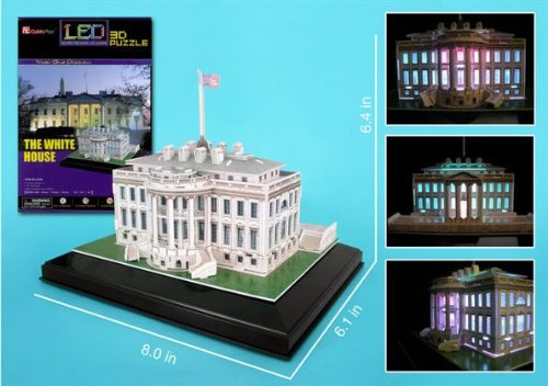 3D Puzzles - LED Light Up Version!: White House