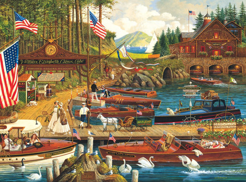Charles Wysocki: Lost in the Woodies - 300pc Large Format Jigsaw Puzzle by Buffalo Games