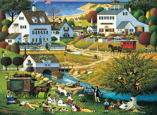 Charles Wysocki: Hound of the Baskervilles - 300pc Large Format Jigsaw Puzzle by Buffalo Games