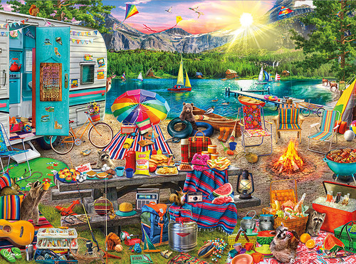 The Family Campsite - 1000pc Jigsaw Puzzle By Buffalo Games