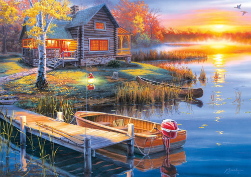 Autumn at the Lake - 300pc Large Format Jigsaw Puzzle By Buffalo Games