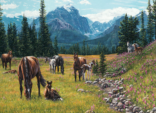 Horse Meadow - 1000pc Jigsaw Puzzle by Cobble Hill