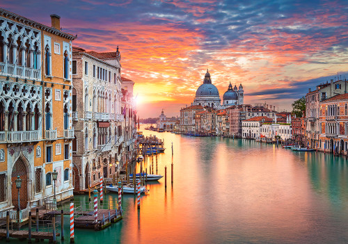 Venice at Sunset - 500pc Jigsaw Puzzle By Castorland