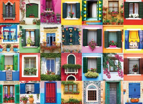 Mediterranean Windows - 1000pc Jigsaw Puzzle by Eurographics