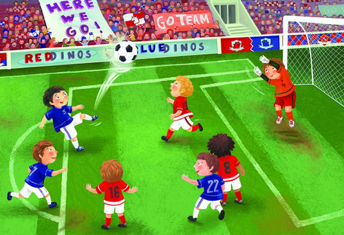 Junior League Soccer - 60pc Jigsaw Puzzle by Eurographics