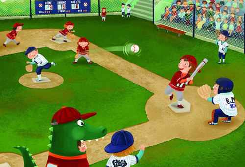 Junior League Baseball - 60pc Jigsaw Puzzle by Eurographics